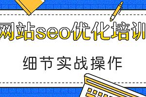 网站seo优化培训,各种细节实战操作(24节视频课程)